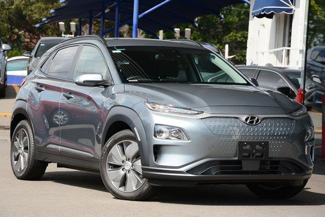 New Hyundai Kona OS.3 MY19 electric Elite, 2019 Hyundai Kona OS.3 MY19 electric Elite Lake Silver 1 Speed Reduction Gear Wagon