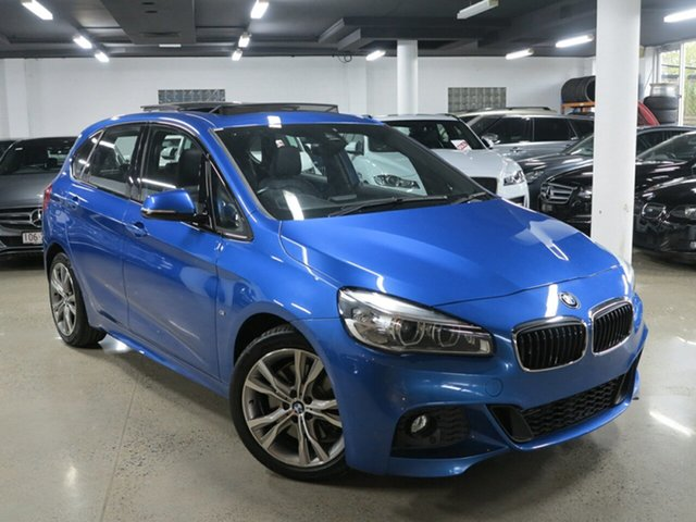 Used BMW 2 Series F45 225i Active Tourer M Sport, 2016 BMW 2 Series F45 225i Active Tourer M Sport Estoril Blue 8 Speed Sports Automatic Hatchback