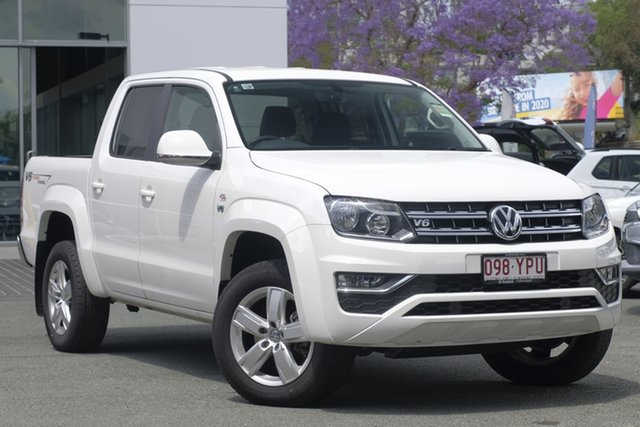 Used Volkswagen Amarok 2H MY18 TDI550 4MOTION Perm Sportline, 2018 Volkswagen Amarok 2H MY18 TDI550 4MOTION Perm Sportline White 8 Speed Automatic Utility