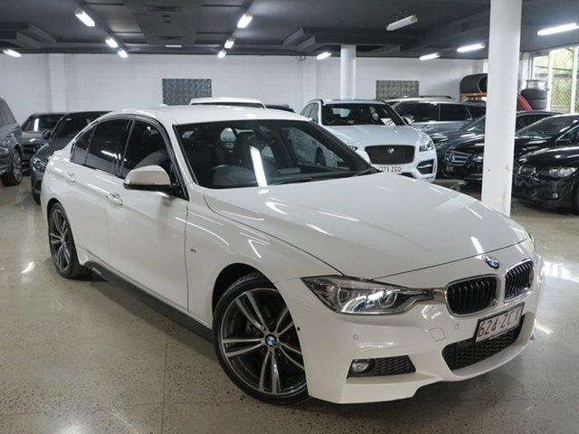 Used BMW 3 Series F30 LCI 320d M Sport, 2016 BMW 3 Series F30 LCI 320d M Sport White 8 Speed Sports Automatic Sedan