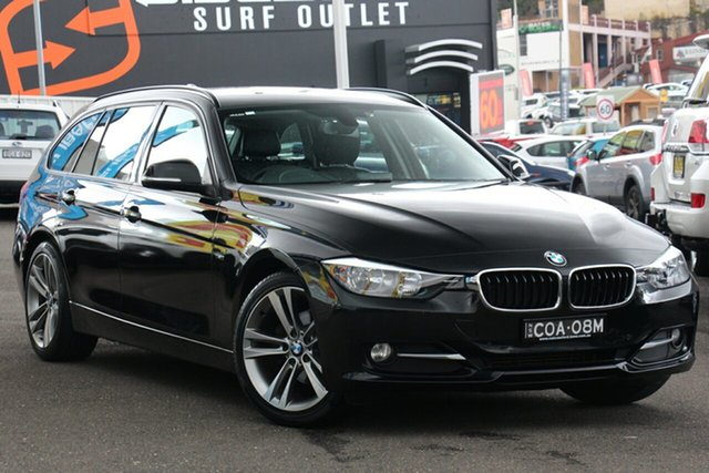Used BMW 3 Series F31 MY1112 318d Touring, 2013 BMW 3 Series F31 MY1112 318d Touring Metallic Black 8 Speed Automatic Wagon