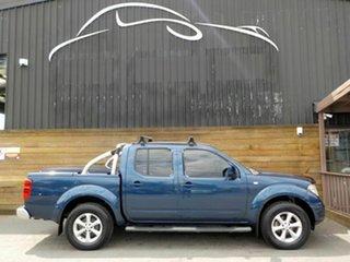 2011 Nissan Navara D40 MY11 ST Blue 6 Speed Manual Utility.
