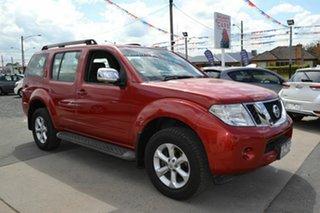 2010 Nissan Pathfinder R51 MY07 ST-L (4x4) Red 5 Speed Automatic Wagon.