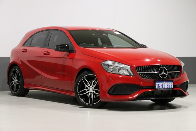 Used Mercedes-Benz A200 176 MY17 , 2017 Mercedes-Benz A200 176 MY17 Red 7 Speed Automatic Hatchback