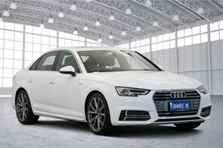 2017 Audi A4 B9 8W MY18 S Line S Tronic White 7 Speed Sports Automatic Dual Clutch Sedan.