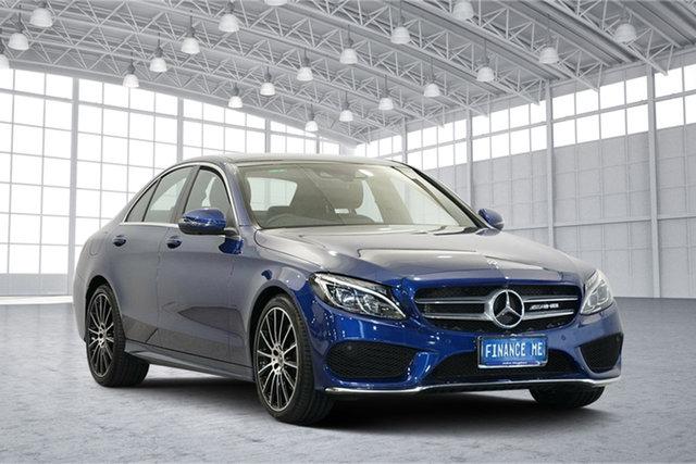 Used Mercedes-Benz C-Class W205 808MY C200 9G-Tronic, 2017 Mercedes-Benz C-Class W205 808MY C200 9G-Tronic Blue 9 Speed Sports Automatic Sedan