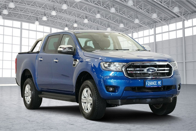Used Ford Ranger PX MkIII 2019.00MY XLT Pick-up Double Cab, 2019 Ford Ranger PX MkIII 2019.00MY XLT Pick-up Double Cab Blue Lightning 10 Speed Sports Automatic