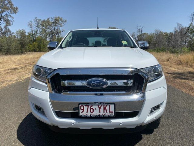 Used Ford Ranger PX MkII , 2018 Ford Ranger PX MkII 4x4 XLT Double Cab Pickup 3.2L Frozen White 6 Speed Manual Utility