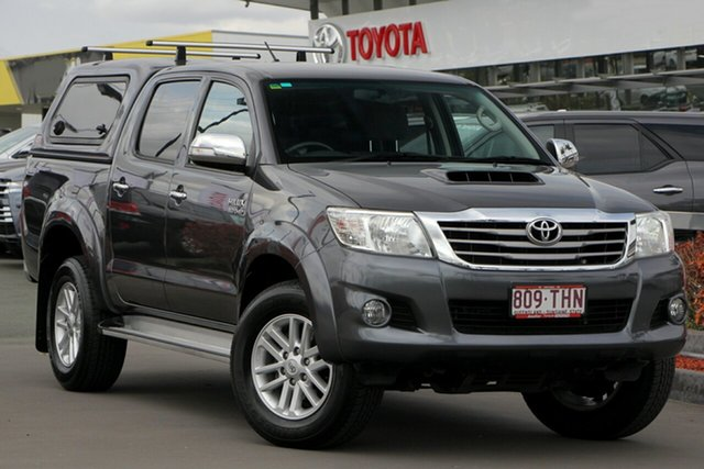 Used Toyota Hilux KUN26R MY14 SR5 Double Cab, 2013 Toyota Hilux KUN26R MY14 SR5 Double Cab Charcoal Grey 5 Speed Automatic Utility