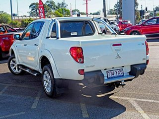 2014 Mitsubishi Triton MN MY15 GLX-R Double Cab White 5 Speed Sports Automatic Utility.