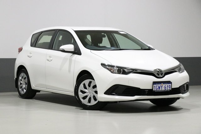 Used Toyota Corolla ZRE182R MY17 Ascent, 2017 Toyota Corolla ZRE182R MY17 Ascent White 7 Speed CVT Auto Sequential Hatchback