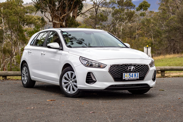 Demo Hyundai i30 PD MY19 Go, 2018 Hyundai i30 PD MY19 Go Polar White 6 Speed Automatic Hatchback