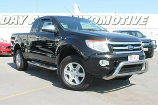 2015 Ford Ranger PX XLT Double Cab 4x2 Hi-Rider Black 6 Speed Sports Automatic Utility.