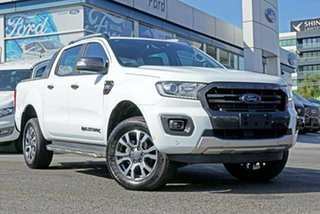 2018 Ford Ranger PX MkIII 2019.00MY Wildtrak Pick-up Double Cab White 10 Speed Sports Automatic.