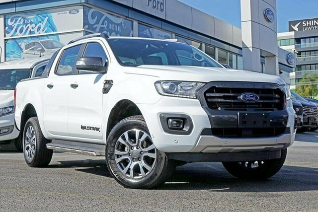 Used Ford Ranger PX MkIII 2019.00MY Wildtrak Pick-up Double Cab, 2018 Ford Ranger PX MkIII 2019.00MY Wildtrak Pick-up Double Cab White 10 Speed Sports Automatic