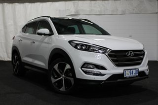 2015 Hyundai Tucson TLE Highlander D-CT AWD White 7 Speed Sports Automatic Dual Clutch Wagon.