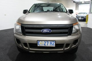 2015 Ford Ranger PX XL Double Cab Bronze 6 Speed Manual Cab Chassis.