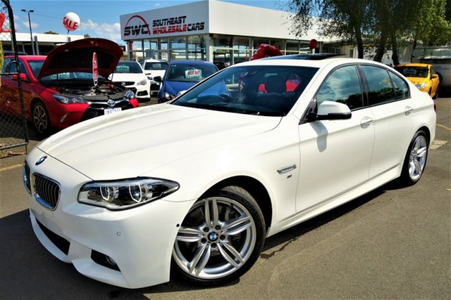 Used BMW 5 Series F10 LCI 535d Steptronic M Sport, 2013 BMW 5 Series F10 LCI 535d Steptronic M Sport White 8 Speed Sports Automatic Sedan