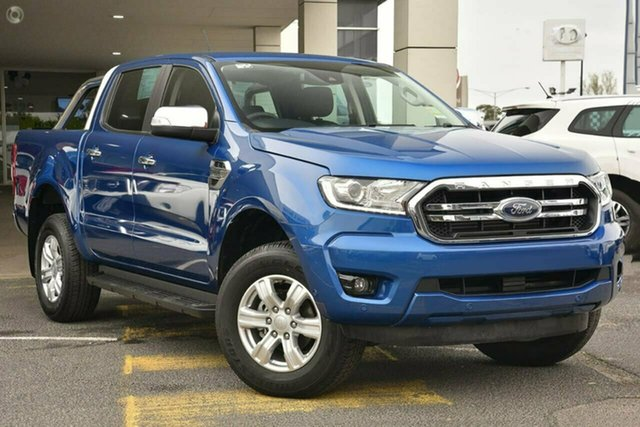 Used Ford Ranger PX MkIII 2019.00MY XLT Pick-up Double Cab 4x2 Hi-Rider, 2018 Ford Ranger PX MkIII 2019.00MY XLT Pick-up Double Cab 4x2 Hi-Rider Blue Lightning 10 Speed
