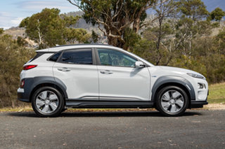 2019 Hyundai Kona OS.3 MY19 electric Highlander Chalk White 1 Speed Reduction Gear Wagon.
