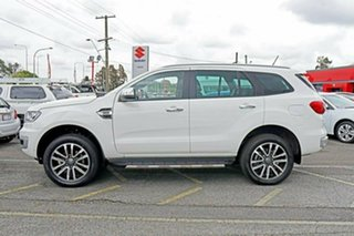 2018 Ford Everest UA II 2019.00MY Titanium 4WD White 10 Speed Sports Automatic Wagon