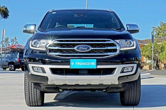 Used Ford Everest UA II 2019.00MY Titanium 4WD, 2018 Ford Everest UA II 2019.00MY Titanium 4WD Black 10 Speed Sports Automatic Wagon