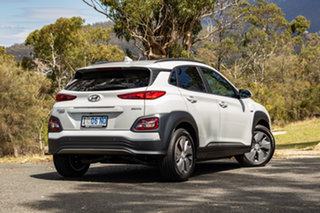 2019 Hyundai Kona OS.3 MY19 electric Highlander Chalk White 1 Speed Reduction Gear Wagon