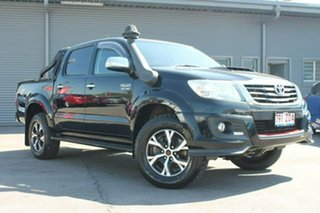 2014 Toyota Hilux KUN26R MY14 Black Double Cab Limited Edition Black 5 Speed Manual Utility.