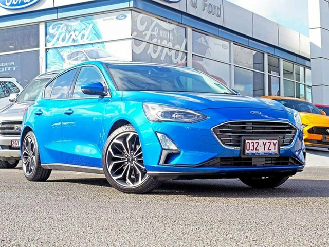 Used Ford Focus SA 2019MY Titanium, 2018 Ford Focus SA 2019MY Titanium Blue 8 Speed Automatic Hatchback