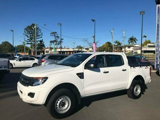 2012 Ford Ranger PX XL Double Cab 4x2 Hi-Rider White 6 Speed Sports Automatic Utility
