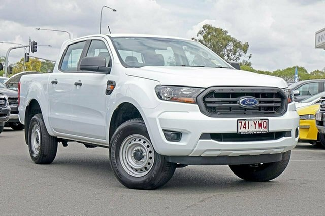 Used Ford Ranger PX MkIII 2019.00MY XL Pick-up Double Cab, 2018 Ford Ranger PX MkIII 2019.00MY XL Pick-up Double Cab Frozen White 6 Speed Sports Automatic