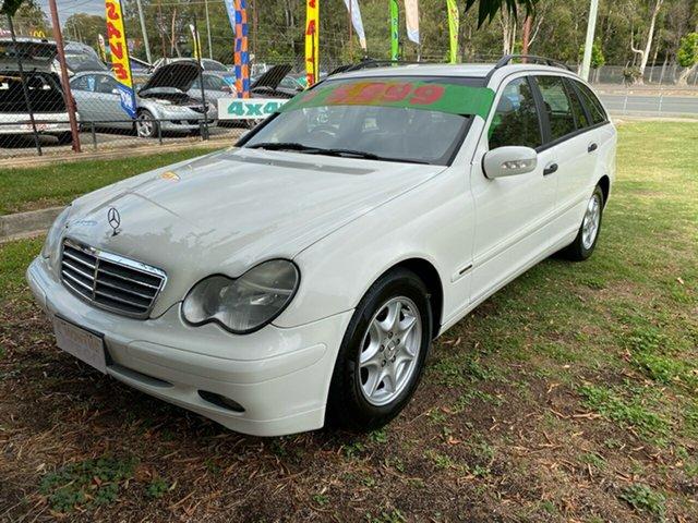 Used Mercedes-Benz C200 W203 Kompressor Avantgarde, 2004 Mercedes-Benz C200 W203 Kompressor Avantgarde White 5 Speed Auto Tipshift Wagon