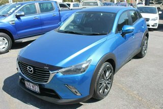 2015 Mazda CX-3 DK4W7A sTouring SKYACTIV-Drive i-ACTIV AWD Blue 6 Speed Sports Automatic Wagon.