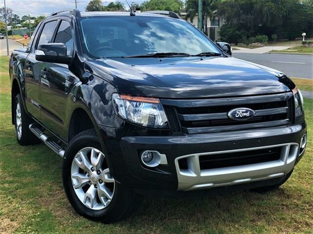 Used Ford Ranger PX Wildtrak Double Cab, 2014 Ford Ranger PX Wildtrak Double Cab Black Mica 6 Speed Manual Utility