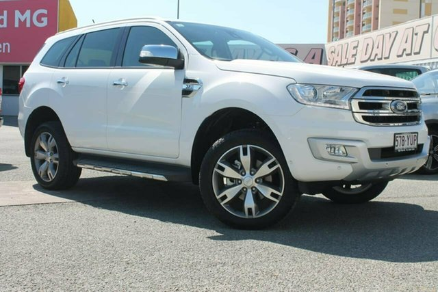 Used Ford Everest UA 2018.00MY Titanium, 2018 Ford Everest UA 2018.00MY Titanium White 6 Speed Sports Automatic Wagon