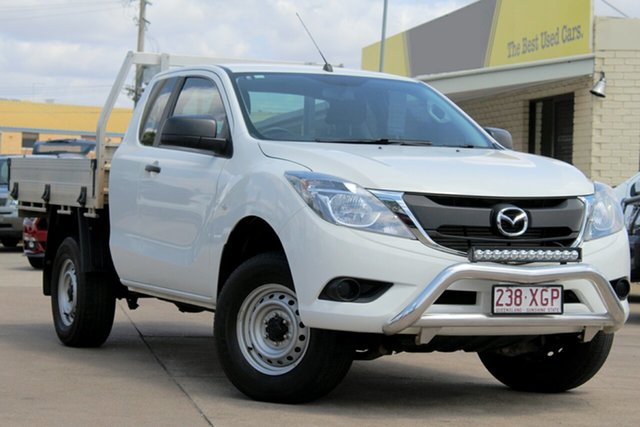 Used Mazda BT-50 UR0YG1 XT Freestyle 4x2 Hi-Rider, 2017 Mazda BT-50 UR0YG1 XT Freestyle 4x2 Hi-Rider White 6 Speed Sports Automatic Cab Chassis