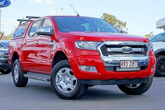 Used Ford Ranger PX MkII XLT Double Cab, 2017 Ford Ranger PX MkII XLT Double Cab Red 6 Speed Manual Utility
