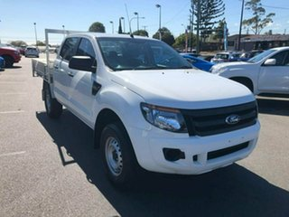 2015 Ford Ranger PX XL Double Cab 4x2 Hi-Rider White 6 Speed Sports Automatic Utility.