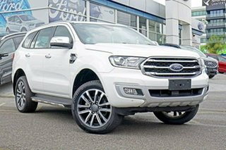 2018 Ford Everest UA II 2019.00MY Titanium 4WD White 10 Speed Sports Automatic Wagon.