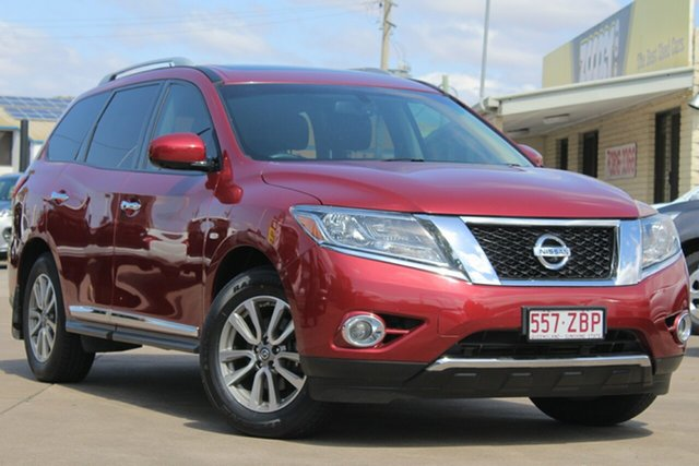 Used Nissan Pathfinder R52 MY14 ST-L X-tronic 4WD, 2014 Nissan Pathfinder R52 MY14 ST-L X-tronic 4WD Cayenne Red 1 Speed Constant Variable Wagon