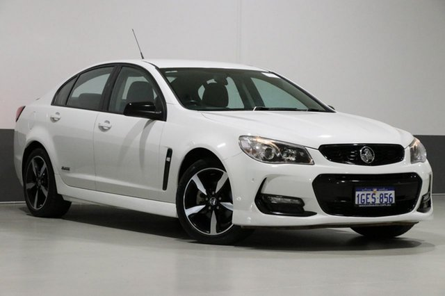 Used Holden Commodore Vfii MY16 SV6 Black Edition, 2016 Holden Commodore Vfii MY16 SV6 Black Edition White 6 Speed Automatic Sedan