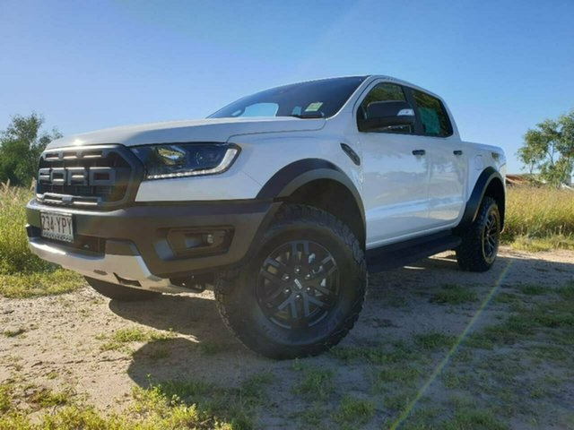 Used Ford Ranger PX MkIII 2019.00MY Raptor Pick-up Double Cab, 2019 Ford Ranger PX MkIII 2019.00MY Raptor Pick-up Double Cab Arctic White 10 Speed Sports Automatic
