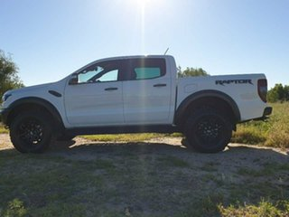 2019 Ford Ranger PX MkIII 2019.00MY Raptor Pick-up Double Cab Arctic White 10 Speed Sports Automatic
