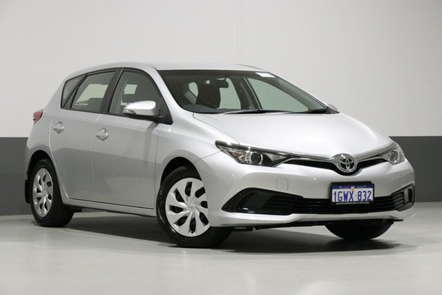 Used Toyota Corolla ZRE182R MY17 Ascent, 2017 Toyota Corolla ZRE182R MY17 Ascent Silver 7 Speed CVT Auto Sequential Hatchback