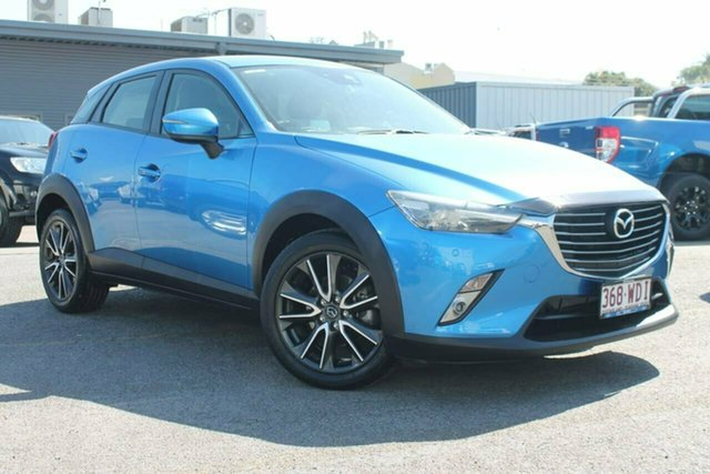 Used Mazda CX-3 DK4W7A sTouring SKYACTIV-Drive i-ACTIV AWD, 2015 Mazda CX-3 DK4W7A sTouring SKYACTIV-Drive i-ACTIV AWD Blue 6 Speed Sports Automatic Wagon