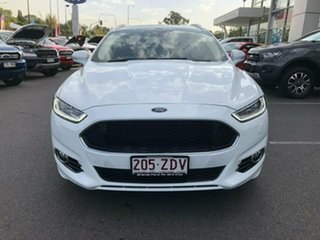 2016 Ford Mondeo MD Titanium PwrShift White 6 Speed Sports Automatic Dual Clutch Wagon.