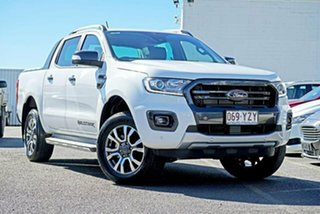 2019 Ford Ranger PX MkIII 2019.75MY Wildtrak Pick-up Double Cab White 6 Speed Sports Automatic.