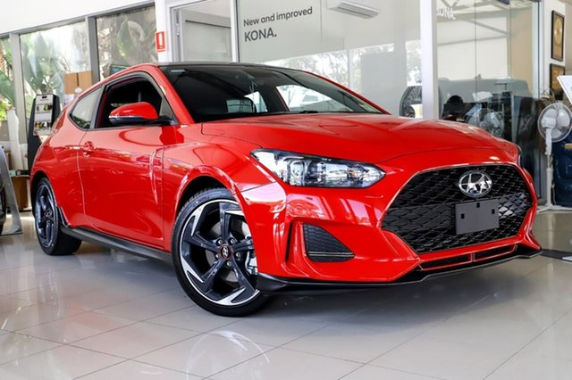 New Hyundai Veloster JS MY20 Turbo Coupe D-CT Premium, 2019 Hyundai Veloster JS MY20 Turbo Coupe D-CT Premium Ignite Flame 7 Speed