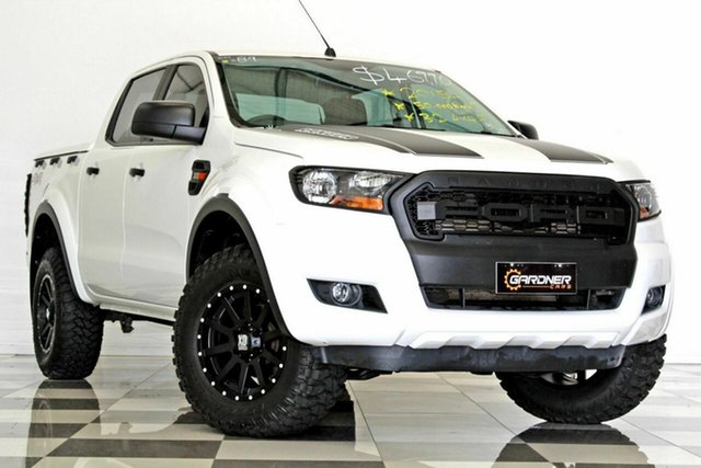 Used Ford Ranger PX MkII XL 3.2 (4x4), 2015 Ford Ranger PX MkII XL 3.2 (4x4) White 6 Speed Manual Crew Cab Chassis