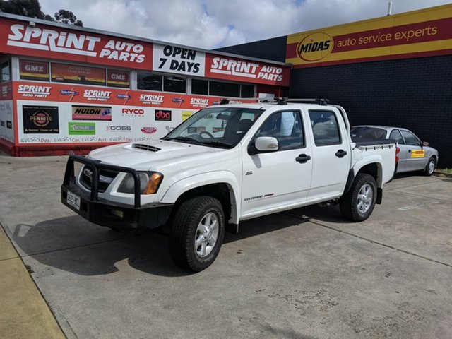 Used Holden Colorado RC MY10 LT-R Crew Cab, 2010 Holden Colorado RC MY10 LT-R Crew Cab White 5 Speed Manual Utility